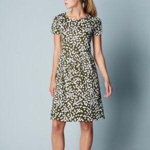 Boden Green Cloud Print Dress